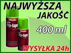 Klej spray Pre Tape 283g Mueller pod plastry i taśmy do tapingu